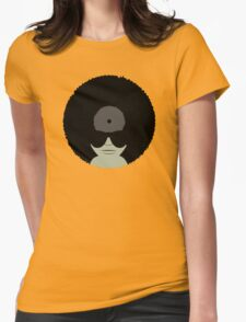 Funky Music Vinyl Records Womens Fitted T-Shirt