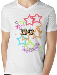 Rainbow Stars Mens V-Neck T-Shirt