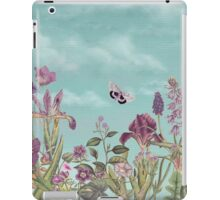 Mauve flowers on turquoise sky background iPad Case/Skin