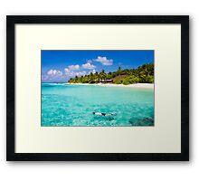 Snorkelling in the Maldivian Atolls - Indian Ocean Framed Print