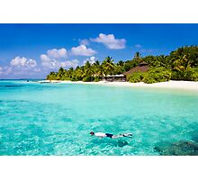 Snorkelling in the Maldivian Atolls - Indian Ocean Photographic Print