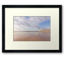 Framed by the clouds at Westward Ho! beach in North Devon, UK Framed Print