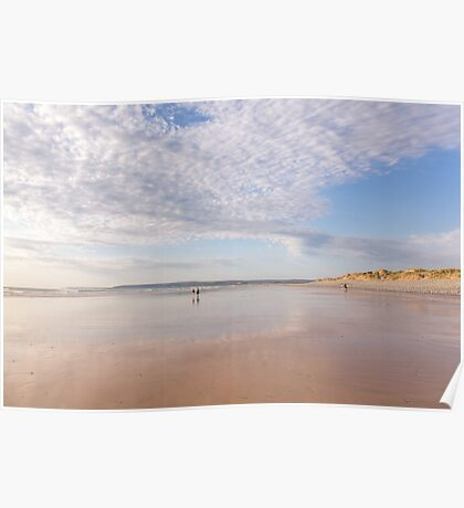 Framed by the clouds at Westward Ho! beach in North Devon, UK Poster
