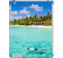 Snorkelling in the Maldivian Atolls - Indian Ocean iPad Case/Skin