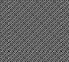 Rounded Holes Metallic Pattern by DFLC Prints