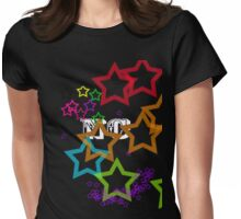 Rainbow Stars 2 Womens Fitted T-Shirt