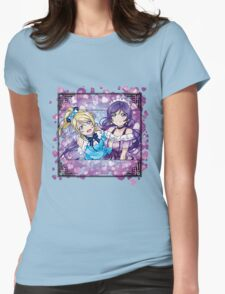 Nozomi & Eli (KiRa-KiRa Sensation camo edit) Womens Fitted T-Shirt
