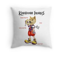 KingDOGE Hearts Throw Pillow