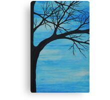 baby blue tree Canvas Print