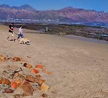 Gordon's Bay beach at Sunset by davridan