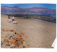 Gordon's Bay beach at Sunset Poster