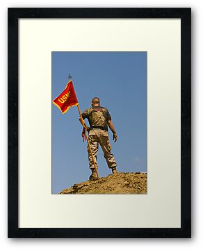Muddy Marine on a Hill by Buckwhite