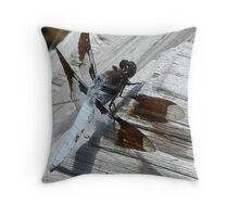 yellowstone dragonfly Throw Pillow