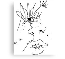 Face Sketch Canvas Print