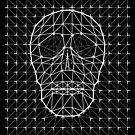 Triangle and Line Art Skull by bortwein