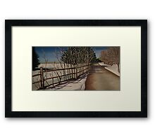 Oil - Road to Nowhere Framed Print