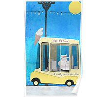 Ice Cream Van Poster
