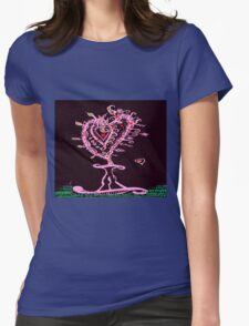 Valentine Hearts Forever Womens Fitted T-Shirt