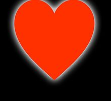 Heart, Love Heart, In love, Pure & Simple, on BLACK by TOM HILL - Designer