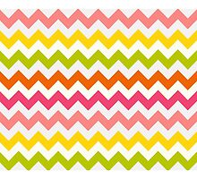 Summer Pastel Chevron Pattern by KCavender
