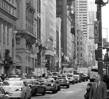 Busy Fashion  Street - New York 5th Avenue by Stephanie Gray