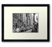 Busy Fashion  Street - New York 5th Avenue Framed Print