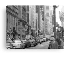 Busy Fashion  Street - New York 5th Avenue Metal Print