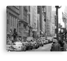 Busy Fashion  Street - New York 5th Avenue Canvas Print