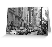 Busy Fashion  Street - New York 5th Avenue Greeting Card