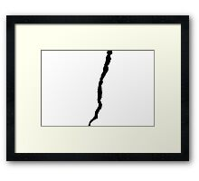 Crack Framed Print