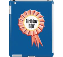 Birthday Boy, Happy Birthday, Red Rosette iPad Case/Skin
