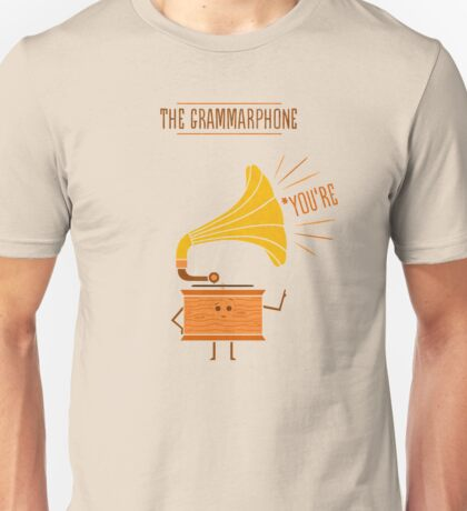 Grammarphone Unisex T-Shirt