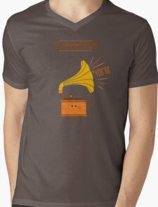 Grammarphone Mens V-Neck T-Shirt