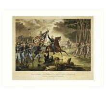 General Kearney's Gallant Charge Battle of Chantilly September 1, 1862 Art Print