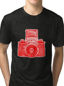 Giant East German Camera - Red Tri-blend T-Shirt