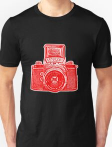 Giant East German Camera - Red Unisex T-Shirt