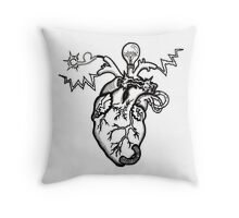 SHOCKING! The Electric Heart Throw Pillow