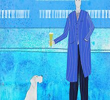 Man and Dog in a Bar by jripleyfagence