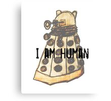I Am Human Canvas Print
