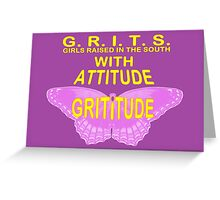 GRITITUDE Greeting Card