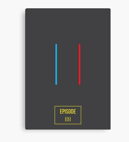 Star Wars Red and Blue Canvas Print
