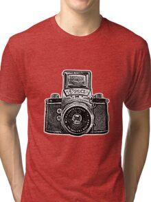 Giant East German Camera - Black Tri-blend T-Shirt
