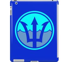 Superhero waterman trident logo geek funny nerd iPad Case/Skin