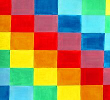Color Flag made of rectangle rainbows of colors. by Serenethos