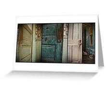 Painted Doors Greeting Card