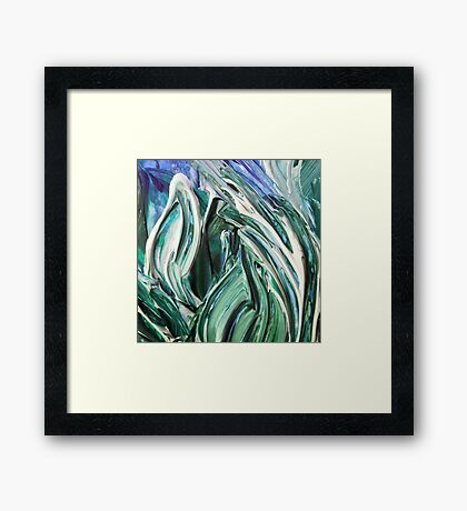Abstract Leaves Framed Print
