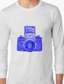 Giant East German Camera - Blue Long Sleeve T-Shirt