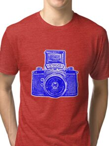 Giant East German Camera - Blue Tri-blend T-Shirt