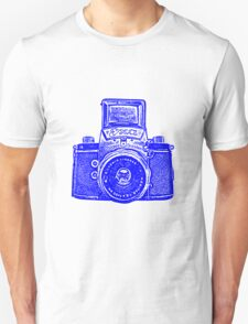 Giant East German Camera - Blue Unisex T-Shirt