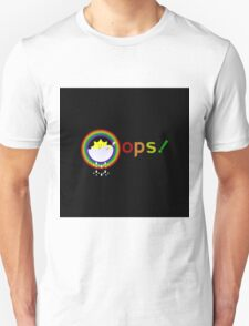 oops illustration on a sun bathe in the clouds and a rainbow appeared also funny Unisex T-Shirt